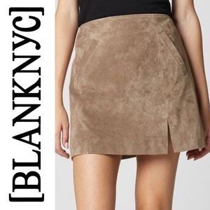 🆕 Blank NYC Tan Suede Leather Mini Skirt